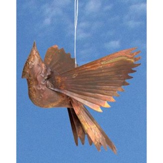 Flamed Copper Cardinal Ornament 8x5x9.5 inch. Pg.51 - On Sale 50 percent off original price 13.5