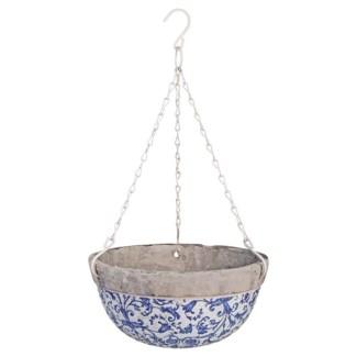 Aged ceramic hanging basket. Ceramics, metal. 25,5x25,5x11,8cm. oq/4,mc/4 Pg.135