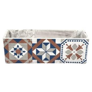 Portuguese tiles balcony pot, Concrete - 15.63x5.39x13.2