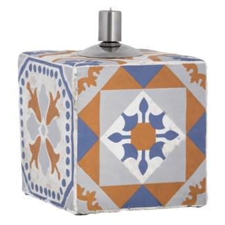 Portuguese tiles oil lamp - 5.35x5.35x17.4