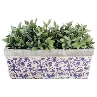 Aged ceramic balcony planter. Ceramics. 39,5x15,7x15,1cm. oq/4,mc/4 Pg.135