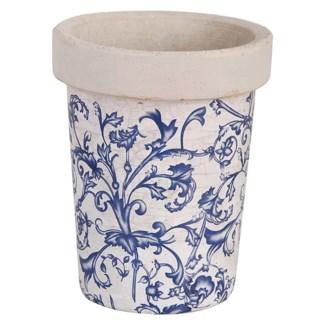 Aged ceramic long toms. Ceramics. 12,8x12,8x15,8cm. oq/12,mc/12 Pg.135