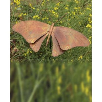 Flamed Butterfly Garden Stake 12x19x30 inch. Pg.38 - On Sale 50 percent off original price 31.5