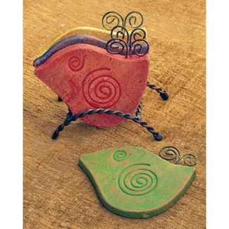 Bird Coasters, Assorted colors w/stand 5x3x5.5 inch. Pg.56 - On Sale 50 percent off original price