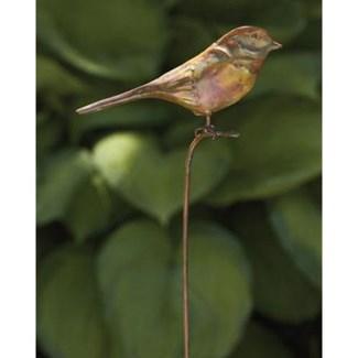 Flamed Bird Garden Stake 6.5x1x29 inch. Pg.39 -