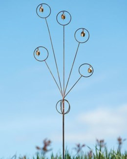 Flamed Bells Garden Stake - 7x55 inches - On Sale 50 percent off original price 23.4