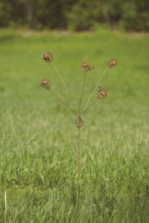 Flamed Bee Spiral Garden Stake - 14x14x58 inches - On Sale 50 percent off original price 28.8