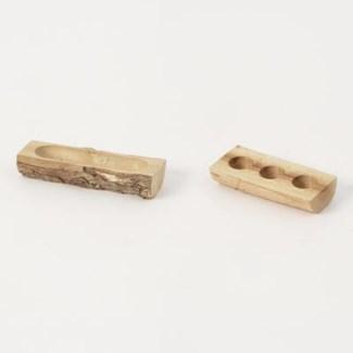 Miniature Wood Low Planters, Set of 2 3.5x1.5x.75/4x1.5x.75 inch. Pg.61 - On Sale 50 percent off o