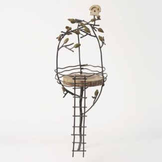 Miniature Terra Cotta/Wire Tree House with Leaves 6.5x6.5x19 inch. Pg.60 - On Sale 50 percent off or