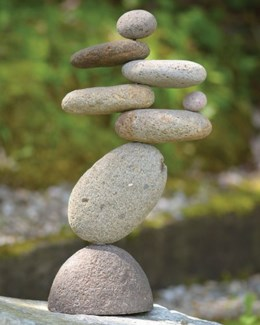 8-Stone Cairn - 7.5x3x13 inches
