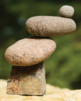 4-Stone Slanted Cairn - 6x3x9 inches