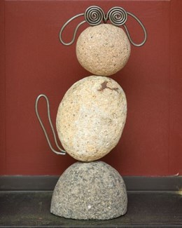 10.5   Dog River Stone Critter - 7x3x10.5 inches