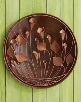 16   Flamed Calla Lily Wall Disc - 16 diameter inches