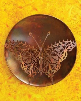 12   Filigree Butterfly Wall Disc - 12 diameter inches -