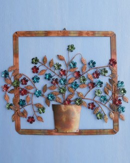 Flower Pot Wall Decor - 23x18.25  inches