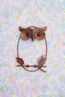Owl on Branch Wall Decor - 8.5x12 inches - On Sale 50 percent off original price 33.3