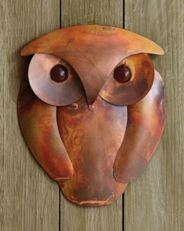 Solid Flamed Owl Wall Decor - 7.25x8.75 inches