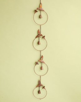 Flamed Hummingbird w/Flower Ornament - 7x58 inches - On Sale 50 percent off original price 34.2