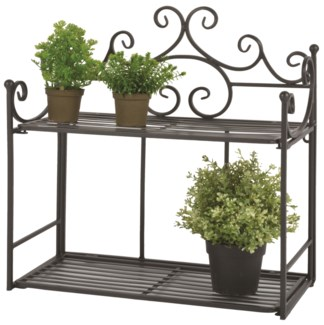 Wall etagere wide - (18.8x8.3x19.5 inches)