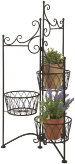 Plant stand for 3 pots folding - (19.3x17.1x38.5 inches)