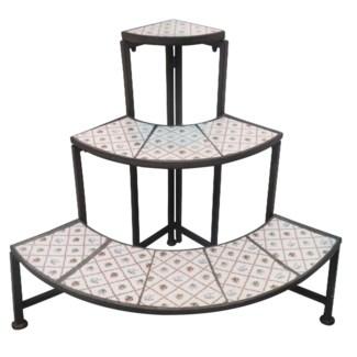 Botanicae quarter etagere. Ceramics, metal. 53,0x53,0x63,7cm. oq/2,mc/1 Pg.130