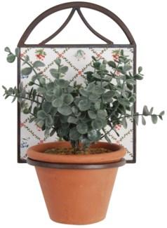 Botanicae potholder 1 pot. Ceramics, metal. 17,0x15,5x23,0cm. 35% off original price of $11.50