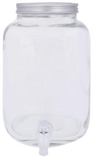 Glass juice dispenser. Glass, stainless steel. 20,0x25,0x31,2cm. oq/2,mc/2 Pg.87