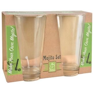 Mojito set. Glass, beech wood. 21,8x10,4x15,4cm. oq/12,mc/12 Pg.86