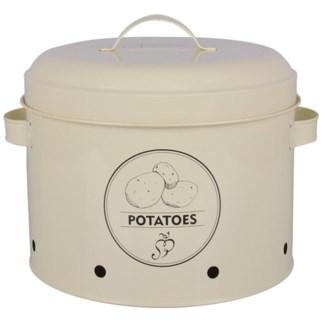 Storage tin potato. Carbon Steel. 27,0x23,2x21,3cm. oq/6,mc/6 Pg.89
