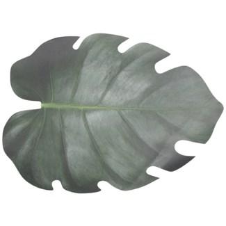 Paper place mats leaf shape set/10, Paper - 18.19x12.91x0.1