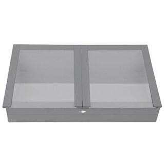Cold frame grey. Pinewood, glass. 117,0x60,4x41,0cm. oq/2,mc/1 Pg.125