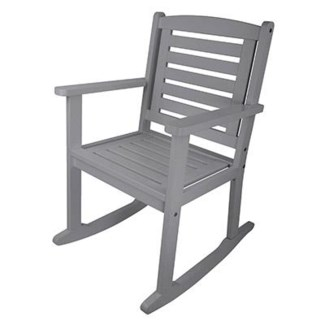 Rocking chair grey. Pinewood. 62,5x75,0x98,0cm. 35% off original price of $193.75