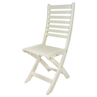 Foldable chair white. Pinewood. 42,0x56,5x98,0cm. 35% off original price of $160.75