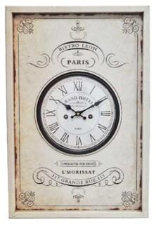 Frame Parisian Clock, 24x9x17 Inches