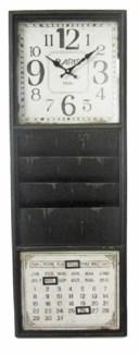Wall Organizer Clock, 40x6x15 Inches