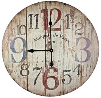 Wood Design Numbered Clock, 23.8 D