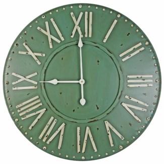 Roman Numeral Clock, Green  27  D