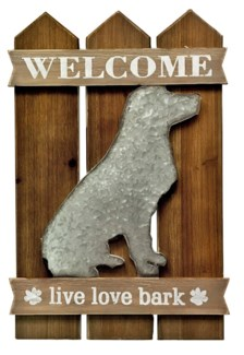 Welcome Dog Wall Decor, 15.7x1x23.6