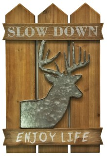 Slow Down Enjoy Life Deer Decor