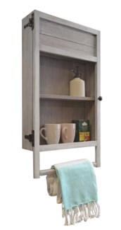 Kitchen Towel Rack Shelf Unit Rustic Grey Organiser 32x6x17.5   Made in Canada.