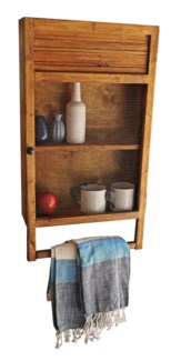 Kitchen Towel Rack Shelf Unit Early American Organiser 32x6x17.5   Made in Canada.