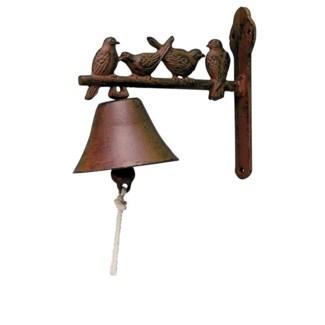 Doorbell birds. Cast iron, cotton cord. 21,8x11,1x19,1cm. oq/6,mc/6 Pg.43