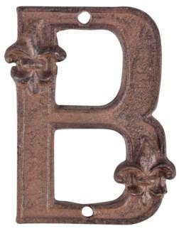 Houseletter B. Cast iron. 9,5x1,2x12,2cm. oq/10,mc/60 Pg.41