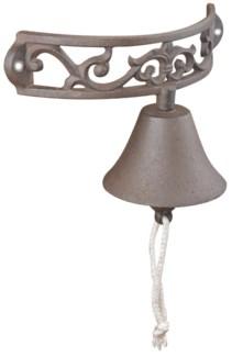 Doorbell half round. Cast iron, cotton cord. 23,0x11,5x13,3cm. oq/12,mc/12 Pg.43