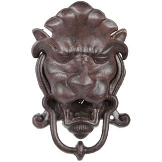 Door knocker lion head, Cast iron - 5.31x2.95x21.3