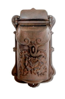 Nazlie Mailbox Brown Cast Iron 6.8x2.8x11.4inch.