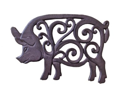 Piggy Trivet, Brown 10.2x7.1 inches