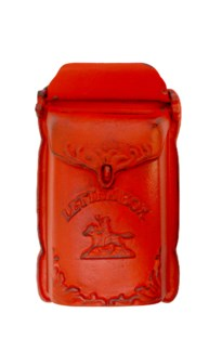 Cara Mailbox Red Cast Iron 7.6x3x12.8inch.