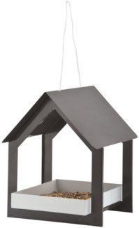 Hanging bird table anthracite/white - m (7.6x7.5x9.1 inches)