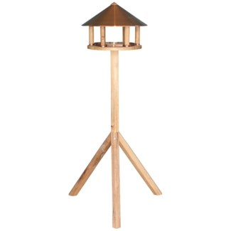 Bird table oak round copper roof -  14.96x14.96x110